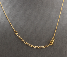 Load image into Gallery viewer, Splendid 14k Solid Yellow Gold Infinity Necklace with Natural Diamond Accent and Rough Rubies