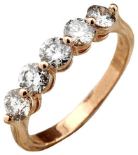 Load image into Gallery viewer, Splendid .90 Carats Natural VS1 Diamond 14K Solid Yellow Gold Ring
