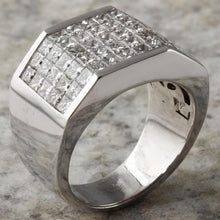 Load image into Gallery viewer, Heavy 5.65 Carats Natural Diamond 14K Solid White Gold Men's Ring