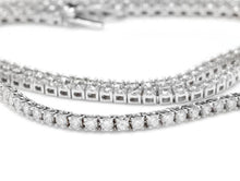 Load image into Gallery viewer, Splendid 5.45 Carats Natural Diamond 18K Solid White Gold Necklace