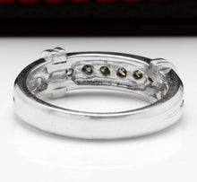 Load image into Gallery viewer, Splendid .50 Carats Natural VS Diamond 14K Solid White Gold Ring