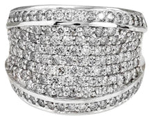 Load image into Gallery viewer, Splendid 3.15 Carats Natural VS Diamond 14K Solid White Gold Ring