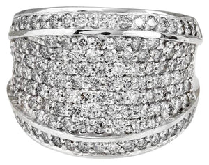 Splendid 3.15 Carats Natural VS Diamond 14K Solid White Gold Ring