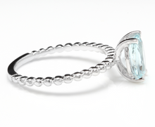 Load image into Gallery viewer, 1.00 Carat Exquisite Natural Aquamarine 14K Solid White Gold Ring