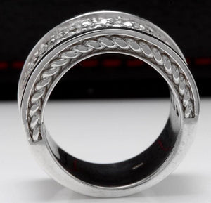 Splendid 4.00 Carats Natural VVS Diamond 14K Solid White Gold Ring