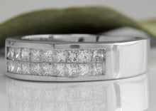 Load image into Gallery viewer, 1.20 Carats Natural VS1 Diamond 14K Solid White Gold Unisex Ring