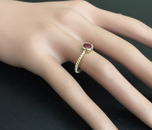 Load image into Gallery viewer, 0.80 Carats Exquisite Natural Ruby 14K Solid Yellow Gold Ring