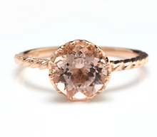Load image into Gallery viewer, 2.00 Carats Exquisite Natural Morganite 14K Solid Rose Gold Ring