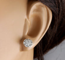 Load image into Gallery viewer, Exquisite 1.60 Carats Natural VVS Diamond 14K Solid White Gold Stud Earrings