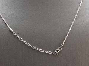 Splendid 14k Solid White Gold Infinity Necklace with Natural Diamond Accent and Raw Sapphires