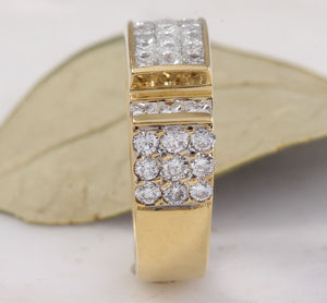 Splendid 1.70 Carats Natural VVS Diamond 18K Solid Yellow Gold Ring