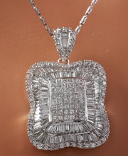 Load image into Gallery viewer, Splendid 7.28 Carats Natural VVS Diamond 18K Solid White Gold Necklace