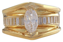 Load image into Gallery viewer, 2.06 Carats Natural Diamond 18K Solid Yellow Gold Engagement Ring