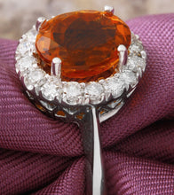 Load image into Gallery viewer, 2.55 Carats Exquisite Natural Madeira Citrine and Diamond 14K Solid White Gold Ring
