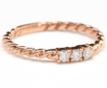 Load image into Gallery viewer, Splendid .15 Carats Natural Diamond 14K Solid Rose Gold Ring