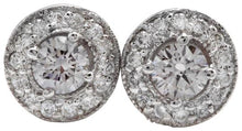 Load image into Gallery viewer, Exquisite .94 Carats Natural Diamond 14K Solid White Gold Stud Earrings