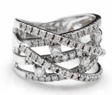 Load image into Gallery viewer, Splendid 1.00 Carats Natural Diamond 14K Solid White Gold Ring