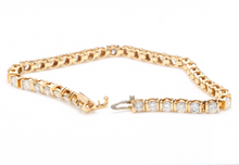 Load image into Gallery viewer, Very Impressive 5.70 Carats Natural Diamond 14K Solid Yellow Gold Bracelet