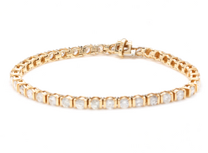 Very Impressive 5.70 Carats Natural Diamond 14K Solid Yellow Gold Bracelet