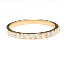 Load image into Gallery viewer, Splendid .35 Carats Natural Diamond 14K Solid Yellow Gold Ring