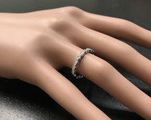 Load image into Gallery viewer, Splendid 0.16 Carats Natural Diamond 14K Solid White Gold Ring