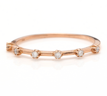 Load image into Gallery viewer, Splendid 0.10 Carats Natural Diamond 14K Solid Rose Gold Ring