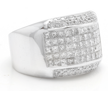 Load image into Gallery viewer, Heavy 5.00 Carats Natural Diamond 14K Solid White Gold Men's Ring