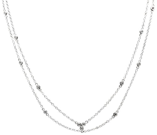 Splendid 14k Solid White Gold Chain Necklace