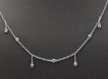 Load image into Gallery viewer, Splendid 14k Solid White Gold Diamond Chain Necklace