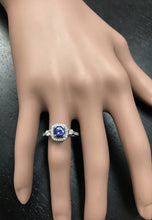 Load image into Gallery viewer, 1.60 Carats Natural Very Nice Looking Tanzanite and Diamond 14K Solid White Gold Ring