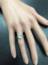 Load image into Gallery viewer, 2.00 Carats Exquisite Natural Aquamarine 14K Solid White Gold Ring