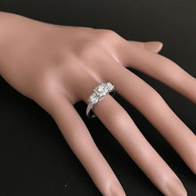 Load image into Gallery viewer, Splendid 0.85 Carats Natural Diamond 14K Solid White Gold Band Ring