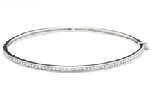 Load image into Gallery viewer, Very Impressive 0.75 Carats Natural Diamond 14K Solid White Gold Bangle Bracelet