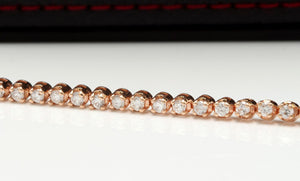 Very Impressive 2.32 Carats Natural Diamond 14K Solid Rose Gold Bracelet