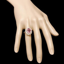 Load image into Gallery viewer, 6.10 Carats Natural Very Nice Looking Tourmaline and Diamond 14K Solid Yellow Gold Ring