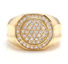 Load image into Gallery viewer, 1.00Ct Carats Natural Diamond 14K Solid Yellow Gold Men's Ring