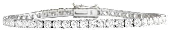 Very Impressive 3.15 Carats Natural Diamond 14K Solid White Gold Bracelet