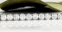 Load image into Gallery viewer, Very Impressive 3.15 Carats Natural Diamond 14K Solid White Gold Bracelet