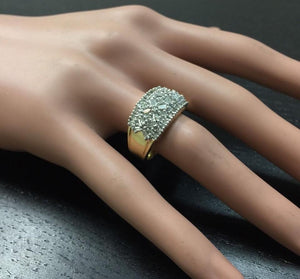 Splendid 1.25 Carats Natural Diamond 14K Solid Yellow Gold Ring
