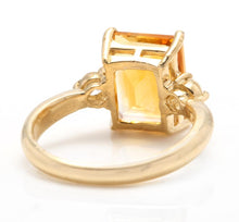 Load image into Gallery viewer, 3.48 Carats Impressive Natural Citrine and Diamond 14K Yellow Gold Ring