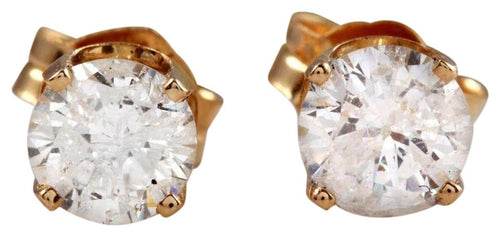 Exquisite .40 Carats Natural Diamond 14K Solid Yellow Gold Stud Earrings