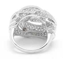 Load image into Gallery viewer, Splendid 3.30 Carats Natural Diamond 14K Solid White Gold Ring