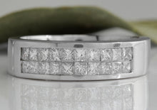Load image into Gallery viewer, Estate 1.20Ct Natural VS1 Diamond 14K Solid White Gold Unisex Ring