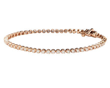 Load image into Gallery viewer, Very Impressive 2.32 Carats Natural Diamond 14K Solid Rose Gold Bracelet