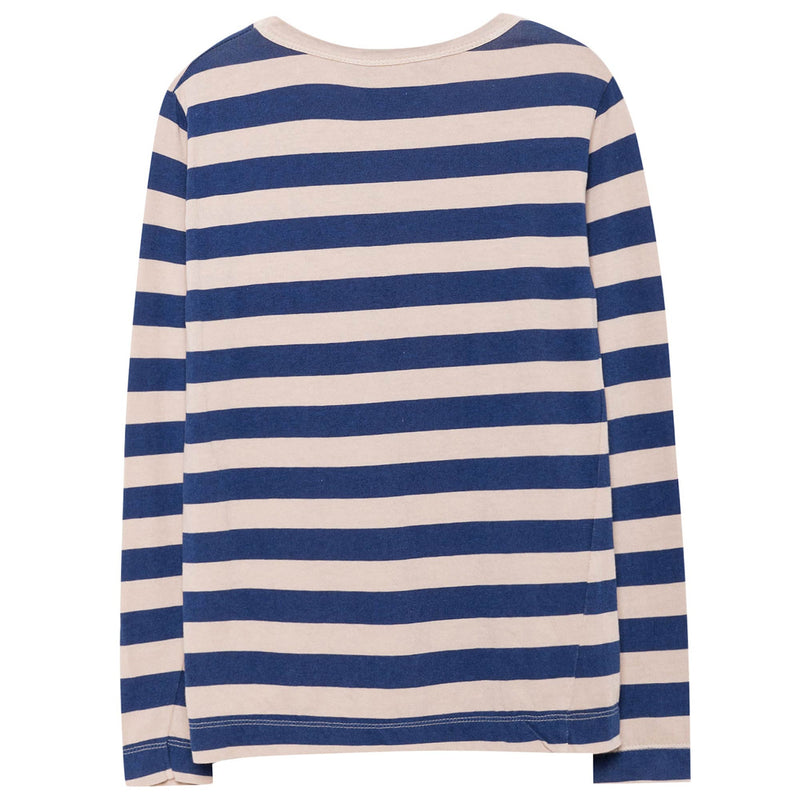 Boys & Girls Blue Striped Cotton T-shirt