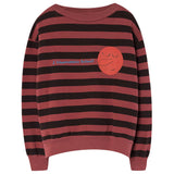 Boys & Girls Red Striped Cotton Sweatshirt