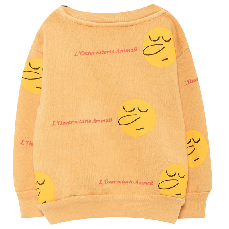 Baby Yellow Cotton Sweatshirt
