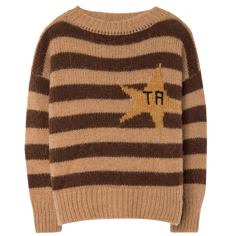 Boys & Girls Brown Striped Sweater