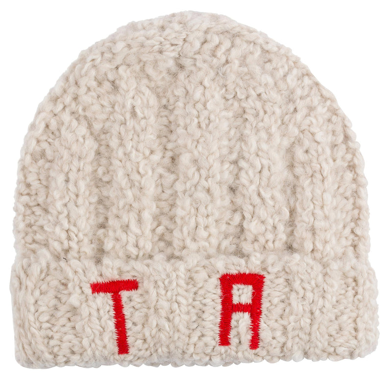 "Boys & Girls Ivory ""TR"" Knitted Hat"