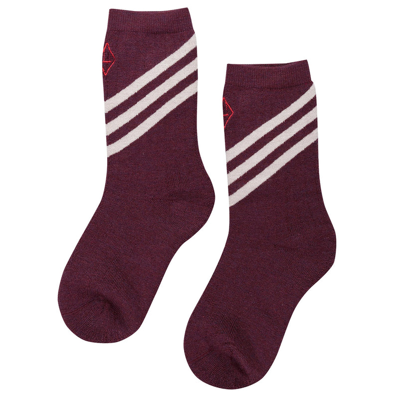 Wine Red Wool Socks